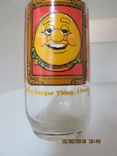 Burger King Bk Collector Collectible Drinking Glass Burger Thing Vintage 1979