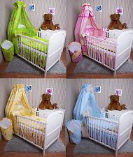 Baby Bettwäsche Himmel Nestchen Bettset 100x135cm für Babybett Decke Kissen Neu