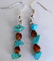 American Indian Navajo Ghost Cedar Beads Juniper Berry Earrings assorted stones