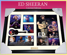 NEW! ED SHEERAN MUSIC MEMORABILIA SIGNED FRAMED LIMITED 499 w/ COA