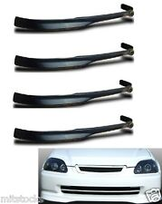 4 X 1999-2000 CIVIC 2 3 4 DOOR TYPE-R PU BLACK ADD-ON FRONT BUMPER LIP SPOILER