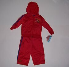 BOY'S TODDLER DISNEY CARS LIGHTNING MCQUEEN  HOODIE TRACK SUIT SIZE 24MO  NWT!