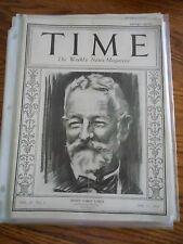 Time Magazine January 21, 1924 Henry Cabot Lodge