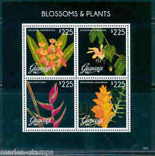 GUYANA BLOSSOMS & PLANTS  SHEET OF FOUR PART II  MINT NH