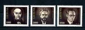 Litauen 1993 Bedeutende Persönlichkeiten Nr: 523 - 525 ** postfrisch BR324