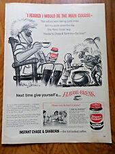 1957 Chase Sanborn Coffee Ad  I Feared I would be the Main Course Natives