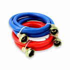 Appliance Pros 4ft Blue and Red Rubber Washing Machine Inlet Hoses, PVC Covered photo