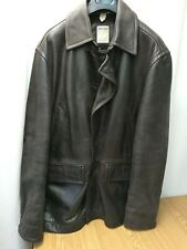 TIMBERLAND ORIGINALE giacca leather tg XL/TG cappotto marrone usato