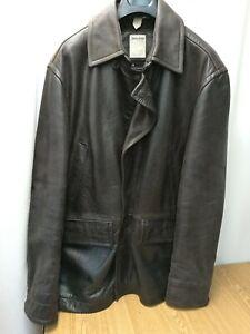 TIMBERLAND ORIGINALE giacca leather tg XL/TG cappotto marrone usato