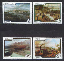 POLONIA/POLAND 1984 MNH SC.2624/2627 paintings of Vistula River