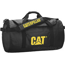 Caterpillar Duffel Bag CAT Carry Duffel Tote Bag W/ Shoulder Strap Black, Yellow