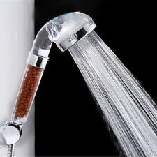 Water-saving Transparent Handheld Anion SPA Bath Spray Shower Head Nozzle New