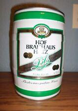Rare Hbh Hof Brauhaus Hatz Pils 5L Steel Barrel Keg Beer Can