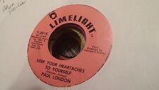 Paul London 45 Keep Your Heartaches to Yourself/Hey Boy Popcorn Teen Rocker