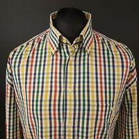 Paul Smith Mens Yachting Shirt 45 17 3/4 (3XL) Long Sleeve Regular Fit Check
