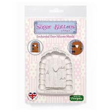 Azúcar Botones Cupcake Fondant Adorno Molde: Enchanted Windows & Flores