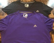 Lot of 2 Adidas Women's Black & Purple Ultimate T-Shirt Large