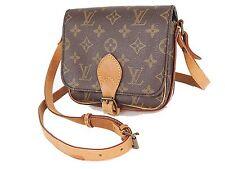 Auth Vintage LOUIS VUITTON Cartouchiere PM Monogram Shoulder Bag Purse #25548