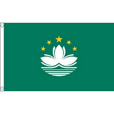 Macau Macao Flag 5Ft X 3Ft Banner With 2 Metal Eyelets