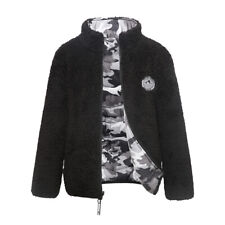 Boys' Reversible Teddy Sherpa Fleece Puffer Jacket Coat