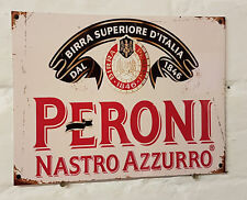 PERONI VINTAGE METAL BEER SIGN, 2 Sizes Available ideal for pub, bar, Man Cave