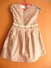 Name it festliches Kleid Gr.116 graubraun lachs rose neuwertig