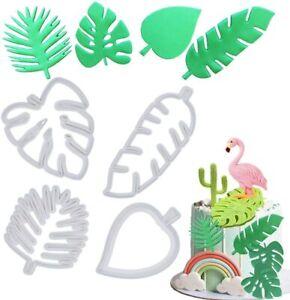 Set of 4 Tropical Palm Fern Turtle Leaf Cutters  - Leaves Jungle Zoo Theme