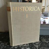 Historica I Las Ciencias Históricos En Checoslovaquia Recueil De 1959