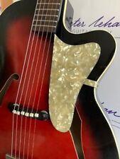 Gitarre HOPF Ende 50er Jahre, Stahlsaiten, im neuen IBANEZ-Gigbag
