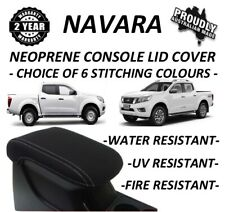 NISSAN NAVARA NP300 D23 NEOPRENE  CONSOLE LID COVER (WETSUIT FABRIC) JUNE 15-NOW