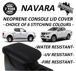 FITS NISSAN NAVARA NP300 D23 NEOPRENE  CONSOLE LID COVER (WETSUIT) JUNE 15-NOW