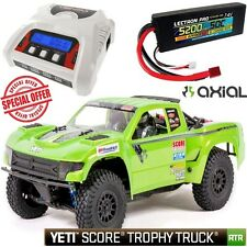 Axial Ax90050 1/10 Yeti Score Trophy Bl Truck Rtr w/ 3S Lipo Battery + Charger