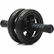 Abdominal Exercise Roller W/ Knee Pad Mat Abs Workout Fitness Wheel Gym Tool NEW