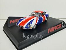 Slot car Scalextric Ninco 50620 Jaguar E-Coupe Union Jack