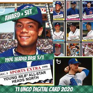 Topps Bunt Roberto Alomar Award + Set (1+10) 1976 Traded Base 2020 Digital Card