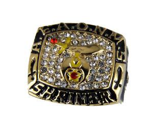 T62 Mens Championship AEAONMS Shriner Ring Noble Prince Hall Mason Masonic