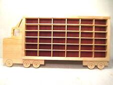 Hot Wheels Matchbox Wood Truck Boys Bedroom Display Case Storage Shelf