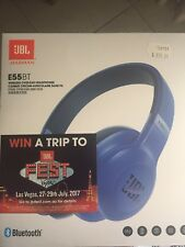 JBL E55BT Wireless Over-Ear Headphones - Blue
