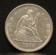 1875 Twenty 20 Cent Piece AU/UNC BETTER DATE