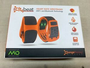 OT Beat Orange Theory Fitness Mio LINK Heart Rate Monitor Wristband Size L
