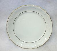 Gibson Golden Legacy China White Scalloped Gold Trimmed Salad Bread Plate
