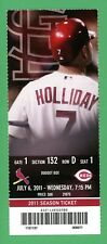 NY Yankees Aroldis Chapman First Career Save #1 Season Ticket 7/6/11 Holliday