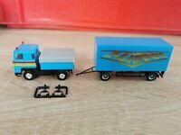 Herpa LKW H0 1:87 Scania Schausteller Zugmaschine mit Anhänger Flipper