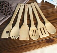 Bamboo Wood Spatula Set Kitchen Cooking Tools Utensil Non-stick Durable Cookware