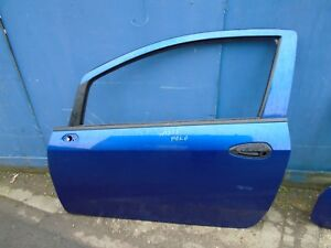 FIAT PUNTO 2006-2010 3 DR  PASSENGER LEFT SIDE FRONT BARE DOOR BLUE 599/A