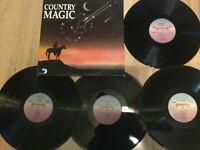 Country Magic 4xLP (HITS): Randy Travis/ Reba McEntire/ Dwight Yoakam etc...NM