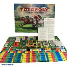 TOTOPOLY. VINTAGE 1950's BOARD GAME WITH METAL HORSES. WADDINGTONS Excellent