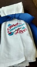 Embroidered Kitchen Towels **  flour sack*  Handmade **New**