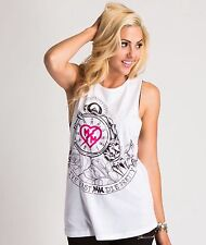 Metal Mulisha Ladies Dani G Record Time Tank Size L