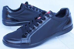 New Prada Men's Tennis Shoes Black Sneakers Size 7 Calzature Uomo